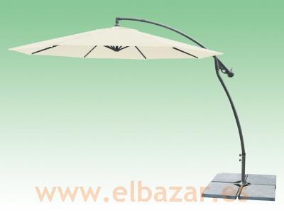 Sombrilla parasol con pie lateral 3 metros de di metro el bazar - Pie para sombrilla ...
