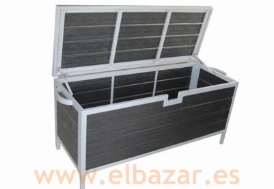 Muebles de exterior royal de aluminio y resina negra el - Muebles resina exterior ...